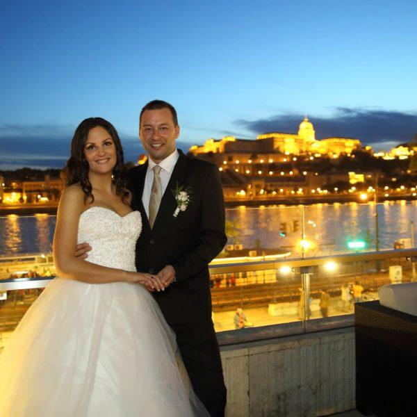 vőlegény és menyasszony